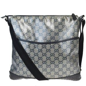 GUCCI GG Pattern Crossbody Shoulder Bag Coating Ca